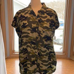 Velvet heart medium camo blouse